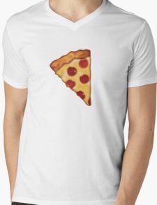 Pizza Emoji Mens V-Neck T-Shirt