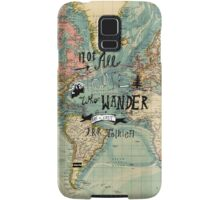 Not All Those Who Wander - Map Texture Samsung Galaxy Case/Skin