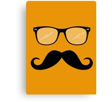 Geeky Mustache Guy Canvas Print