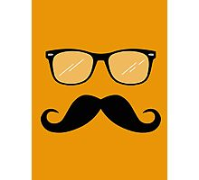 Geeky Mustache Guy Photographic Print