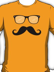Geeky Mustache Guy T-Shirt