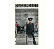 Standing Guard - DPRK Art Print