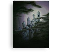 Dark fairytale castle Canvas Print