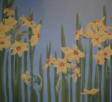 Joyful narcissi by Lyndsey Hale