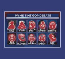 """Candidates for the American Prime Time """"Debate"""" for the 2016 Presidential Election by uniquesparrow"""