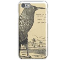 Black Gnoo- Crow hybrid, Jabberwocky quote Lewis Carroll iPhone Case/Skin