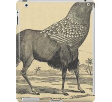 Black Gnoo- Crow hybrid, Jabberwocky quote Lewis Carroll iPad Case/Skin