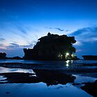 Tanah Lot in Blue by I Nengah  Januartha