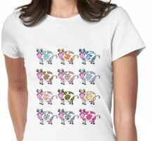Funkiest Cows Womens Fitted T-Shirt