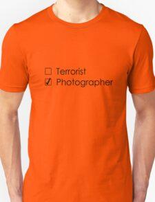 Terrorist Photographer 2 black Unisex T-Shirt