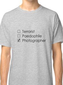 Terrorist Photographer 1 black Classic T-Shirt