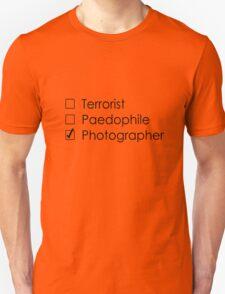 Terrorist Photographer 1 black Unisex T-Shirt