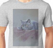 British blue shorthair cat relaxing. Unisex T-Shirt