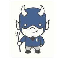 Devil Mascot Chibi Cartoon Art Print