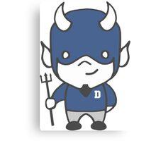 Devil Mascot Chibi Cartoon Canvas Print