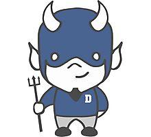 Devil Mascot Chibi Cartoon Photographic Print