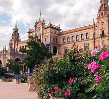 Plaza de España - Seville, Spain  by Andrea Mazzocchetti