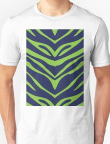 Blue N Green Zebra Unisex T-Shirt