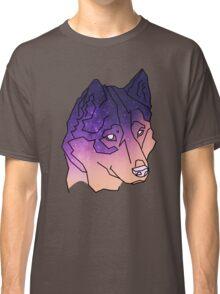 Husky Wolf Sunset Galaxy Classic T-Shirt