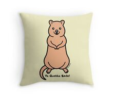 Ya Quokka Smile Throw Pillow