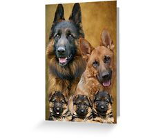German Shepherd Family Collage Greeting Card