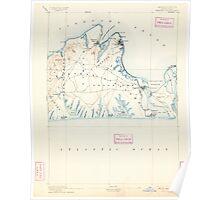 Massachusetts  USGS Historical Topo Map MA Marthas Vineyard 352839 1894 62500 Poster