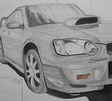 Subaru STI by gaylecaldwell88