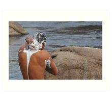 River Cleansing Art Print