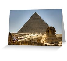 The wonders of Egypt Greeting Card