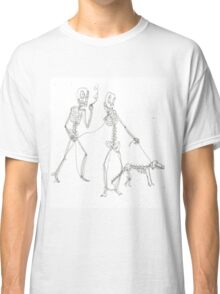 two skeletons walking in the park Classic T-Shirt