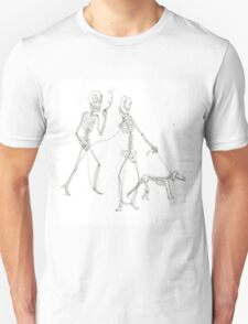 two skeletons walking in the park Unisex T-Shirt