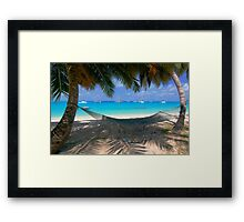 """Blue Thongs"" - West Island, Cocos (Keeling) Islands Framed Print"
