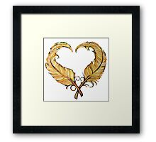 Feather heart Framed Print
