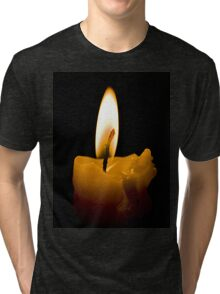Candle in the darkness Tri-blend T-Shirt