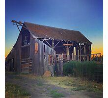 Barn at dusk Photographic Print