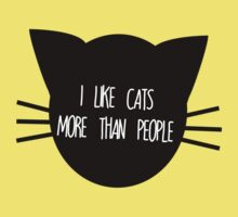 I like Cats More than People Kids Clothes