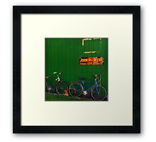 Old Farm Bicycles Framed Print
