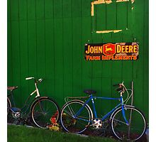 Old Farm Bicycles Photographic Print