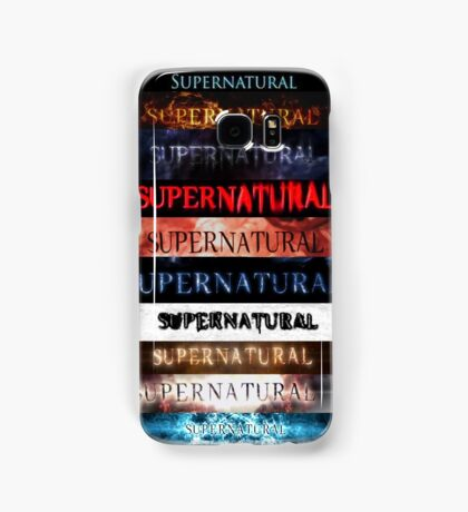 Supernatural intro seasons 1-10 Samsung Galaxy Case/Skin