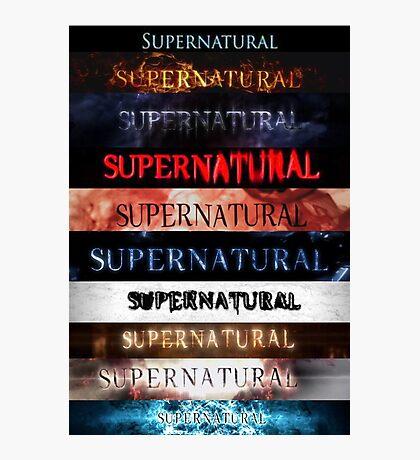 Supernatural intro seasons 1-10 Photographic Print