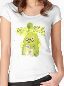 Splatoon Inspired: Squid or Kid Women's Fitted Scoop T-Shirt