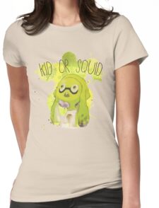 Splatoon Inspired: Squid or Kid Womens Fitted T-Shirt