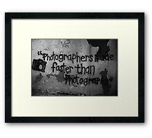 Photography Graffiti   Framed Print