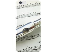 Pause for Breath - Flute and Sheet Music iPhone Case/Skin