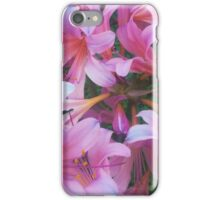 Pink Surprise Lillies iPhone Case/Skin