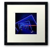 LED Lights Over Bridge Framed Print