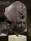 head of Amenhotep III {1391-1353 BCE} by WonderlandGlass