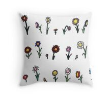 A happy flower garden just for you Throw Pillow