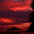 Red sunset, Praslin by Gyuri Nagy