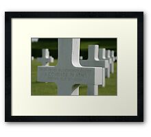 comerade in arms Framed Print